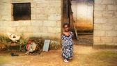 黑色非洲女孩在家里 — 图库照片