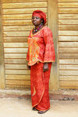 Black African woman in traditional clothing — Stock Photo