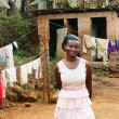 Young African woman in backyard - Photo