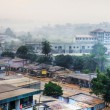 Big African city at dawn — Stock Photo