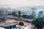 Big African city at dawn — Stock Photo