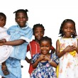 Stock Photo: Africkids all sisters isolated