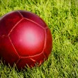 Red soccer ball - Stock Photo