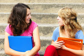Girlfriends talking — Stock Photo