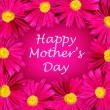 Mothers day card with pink flower frame — Foto Stock