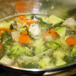 Boiling vegetables — Stock Photo