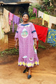 Pregnant African woman — Stock Photo