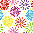 Seamless colorful spiral pattern - Stock Vector