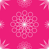 Seamless abstract stars on pink — Stock Vector