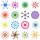 Set of design elements spiral in colors — Stock Vector