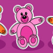 Stock Vector: Seamless teddy bear pattern