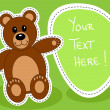 Teddy bear with blank sign — Stock Vector