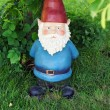 Garden gnome looking at camera — Stock Photo
