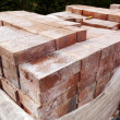 New paver bricks to install — Stock Photo
