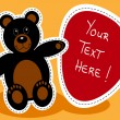 Cartoon black bear with sign — Vettoriali Stock