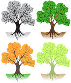árvores — Vetorial Stock