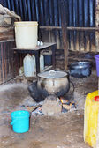 Typical African kitchen — Stock Photo
