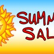 Summer sale banner — Stock Vector