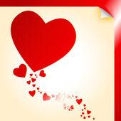 Calcomanía de forma de corazón — Vector de stock