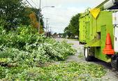 Camión astilladora de madera — Foto de Stock