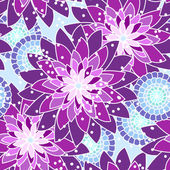 Seamless flower pattern in purple tones — Stock Vector