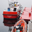 Canadian coast guard vessel — Stock Photo