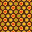 Seamless retro honeycomb pattern — Stock Vector