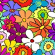 Seamless busy flower pattern 2 — ベクター素材ストック