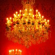 Magnificent vintage crystal chandelier — Stock Photo