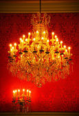 Magnificent vintage crystal chandelier — Foto de Stock