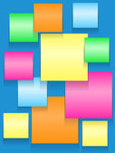 Sticky squares of different colors — Stock Vector