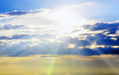 Scéna s oblaky s bokeh — Stock fotografie