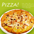 Stock Photo: Pizzon green background