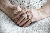 Senior woman hands — Stock Photo
