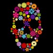 Постер, плакат: Flower skull in colors