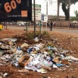 Stock Photo: Garbage by road in Africa