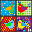 Seamless patchwork birds — Stock Vector #37786093