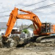 Stock Photo: Hitachi orange digger