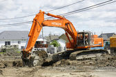 Hitachi orange digger — Foto Stock