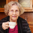 Stock Photo: Seinor woman with cup of tea