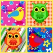 Seamless patchwork birds-2 — Stock Vector #39482767