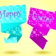 Stock Vector: Origami Happy Easter card