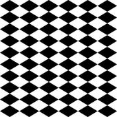 Seamless harlequin pattern-black and white — Stock Vector