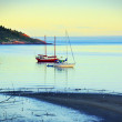 Sailboat anchored at sunset — Stock Photo #41645881