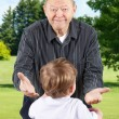 Happy grandpa with open arms — Stock Photo