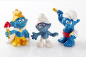 Collectible smurf characters — Stock Photo