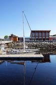 Docked sailboats — Stock Photo