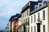 Houses in old Quebec city — Stock Photo