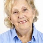 Portrait of happy senior woman — Stock Photo #7977174