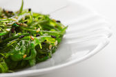 Japanese cuisine , seaweed salad in white plate. Healthy organic sea food — Foto Stock